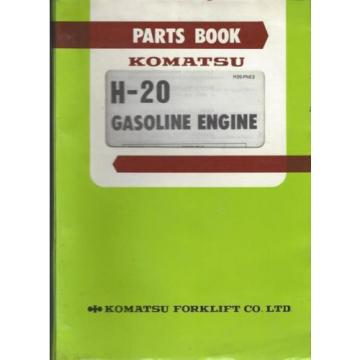 Komatsu Ecuador  H-20 Gasoline Engine Parts Book, H20-PNE3, 15 June 1982