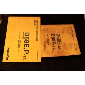 Komatsu Swaziland  Parts book and maintenance Manual Catalog dozer crawler D68E