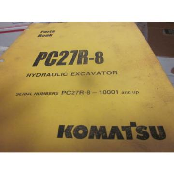 Komatsu Netheriands  PC27R-8 Hydraulic Excavator Parts Book Manual