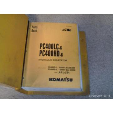 KOMATSU Guyana   PC400LC-6 PC400HD-6 HYDRAULIC Excavator Parts Manual with Binder