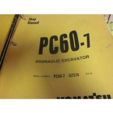 Komatsu Botswana  PC60-7 Hydraulic Excavator Repair Shop Manual