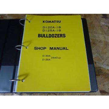 Komatsu Barbados D120A-18 & D125A-18 Bulldozer Service Manual
