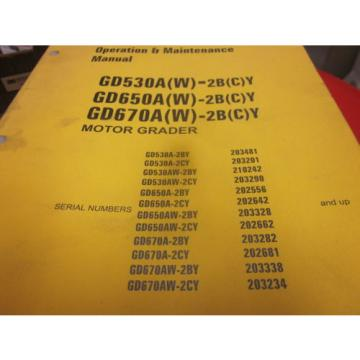 Komatsu Guyana  GD530A GD650A GD670A Graders Operation & Maintenance Manual