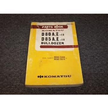 Komatsu Barbuda D80A-18 D80E-18 D85A-18 D85E-18 Bulldozer Dozer Parts Catalog Manual
