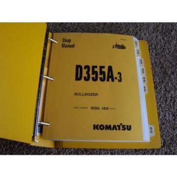 Komatsu SolomonIs D355A-3 -1010- Bulldozer Dozer Factory Service Shop Repair Manual