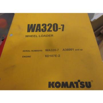 Komatsu Fiji  WA320-7 Wheel Loader Parts Book Manual s/n A36001 & Up