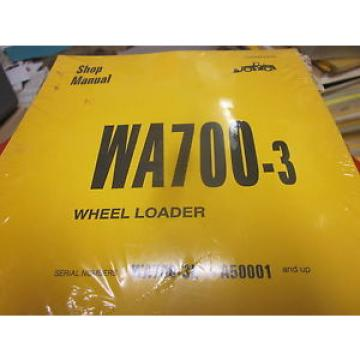 Komatsu Haiti  WA700-3 Wheel Loader Repair Shop Manual s/n A50001 Up