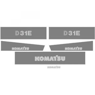 D31E Russia  New Komatsu Dozer Decal Set with Stripe