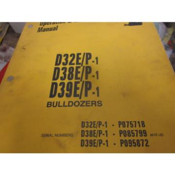 Komatsu Egypt  D32E P-1 D38E P-1 D39E P-1 Dozer Operation & Maintenance Manual
