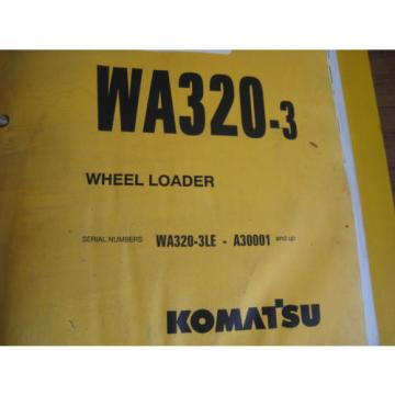 Komatsu Andorra  WA320-3 3LE Wheel Loader Tractor Parts Book Manual BEPBW19070 Used