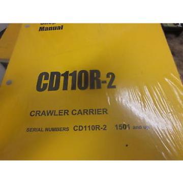 Komatsu UnitedStatesofAmerica CD110R-2 Crawler Carrier Shop Manual s/n 1501 & Up