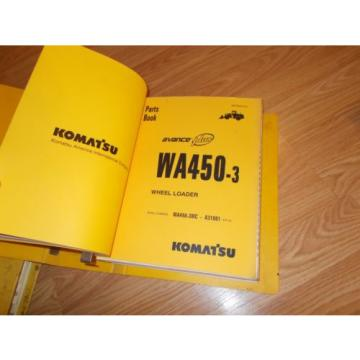 Komatsu Netheriands  WA450-3MC A31001~UP PARTS OPERATION & MAINTENANCE MANUAL WHEEL LOADER