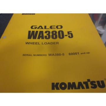 Komatsu Burma  WA380-5 Wheel Loader Operation & Maintenance Manual Year 2004