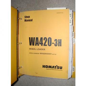 Komatsu Costa Rica  WA420-3H SERVICE SHOP REPAIR MANUAL WHEEL LOADER BOOK BINDER VEBM470104