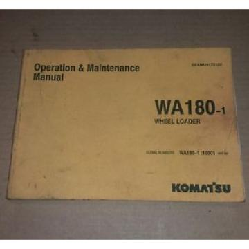 Komatsu Uruguay  WA180-1 OPERATION MAINTENANCE MANUAL WHEEL LOADER