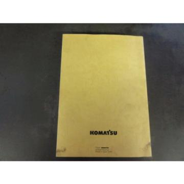 Komatsu Burma  PC78MR-6 Hydraulic Excavator Parts Book