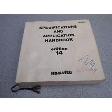 KOMATSU Denmark Specification Application HANDBOOK Manual 14th EDITION 1992