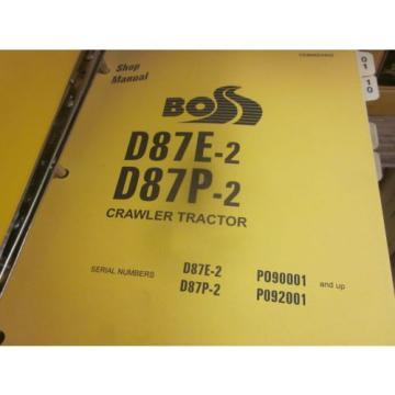 Komatsu Rep. D87E-2 D87P-2 Bulldozer Repair Shop Manual