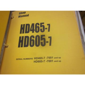 Komatsu Barbados  HD465-7 HD605-7 Dump Truck Repair Shop Manual