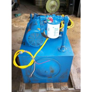 Nachi Czech Republic  Variable Vane Pump Hydraulic Unit VDC-2B-2A3-E35 Leeson 5 HP 230/460V