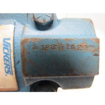 Vickers Bulgaria  V101P2S1A20 Single Vane Hydraulic Pump 1#034; Inlet 1/2#034; Outlet