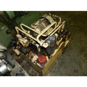 Nachi Bahrain  3 HP Oil Hydraulic Unit, Nachi Variable Vane Pump VDR-11B-1A2-1A2-22, Used