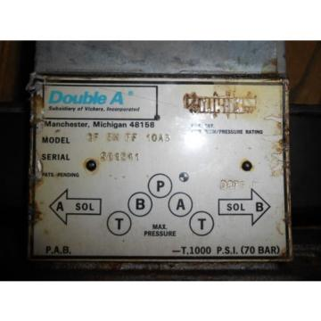 Vickers Slovenia Double A Hydraulic Directional Control Valve QF-5M-FF-10A3