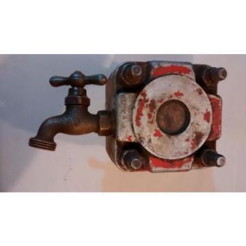 Vintage Iran Hydraulic Vane Pump 5170 With Faucet Orange