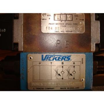 VICKERS Liechtenstein HYDRAULIC PUMP CONTROL VALVE FD4 ASHS CO6M 63 AE39