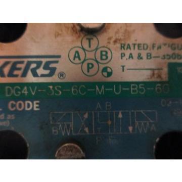 Vickers SamoaWestern directional hydraulic control valve DG4V-3S-6C-M-U-B5-60  W/ 2 P/N 02-10