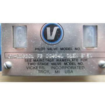 VICKERS Costa Rica  DG4S4L 012N B 50 TWO STAGE HYDRAULIC VALVE