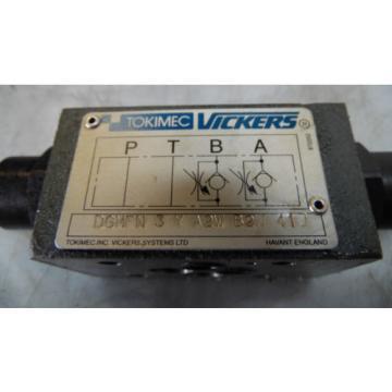 Vickers Denmark Hydraulic Valve, DGMFN-3-Y-A2W-B2W-41J, Used, WARRANTY