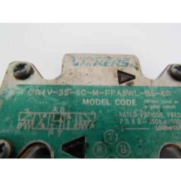 Vickers Iran  DG4V-3S-6C-M-FPA5WL-B5-60 Hydraulic Directional Control Valve