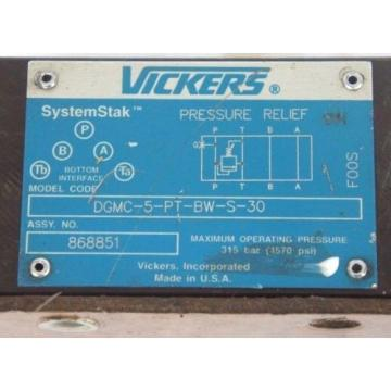VICKERS Reunion DGMC-5-PT-BW-S-30 SYSTEMSTAK PRESSURE RELIEF VALVE ASSY NO 868851
