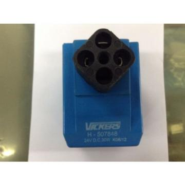 VICKERS Guyana H-507848 Solenoid Coil 24 V DC, 30 W for Hydraulic Valve
