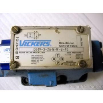 Vickers Russia  DG5S-8-2A-M-W-B-20 Two-Stage, Four-Way Directional Hydraulic Valve