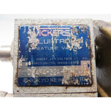 Vickers Bahamas FNM 3AK-30-JA DG4M4-32A-20-JA Mini Directional Valve Flui-Trol 100V Coil