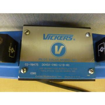 Vickers Cuba DG4S4-016C-U-B-60 Hydraulic Pilot Control Valve 110/120VAC 12463