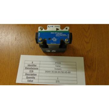 VICKERS Netheriands DG4V-3S-0A-M-FW-H5-60 Hydraulic Valve