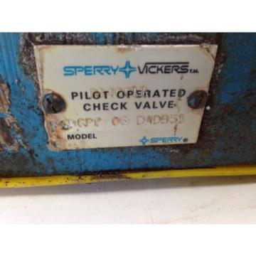 Origin Ecuador VICKERS D84CCLL, F3DGPC 06 DADB51 HYDRAULIC PILOT OPERATED CHECK VALVE 15