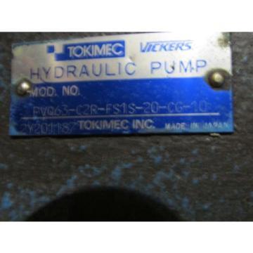 VICKERS Ecuador TOKIMEC PUMP PVQ63-CR2-FS1S-20-CG-10
