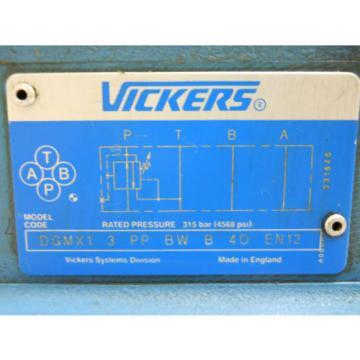 VICKERS Suriname KFDG5V 7 2C200N X VM U1 H1 12 HYDRAULIC CONTROL SOLENOID VALVE  NOS