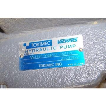 Origin Barbuda  SURPLUS TOKIMEC VICKERS VVJ125-YSQPS2-14A12C HYDRAULIC PUMP