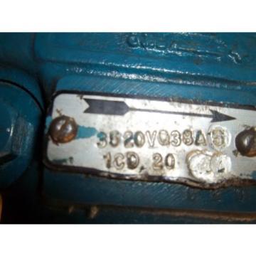 Vickers Ecuador Hydraulic Vane Pump 3520VQ38A5 1CD 20 G20