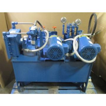 RWE Bahamas  Vickers Delta Power A23 Dual 1/2 HP Baldor Motor Hydraulic Power Unit Used