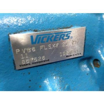 VICKERS Liechtenstein PVB6 FL SXY 21 CM 11 HYDRAULIC PISTON PUMP 857526 REFURBISHED G2