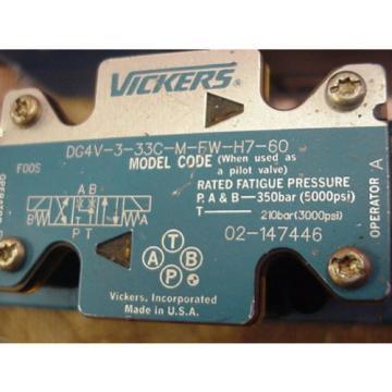origin Iran Eaton Vickers Hydraulic Solenoid Valve 02-147446 DG4V-3-33C-M-FW-H7-60