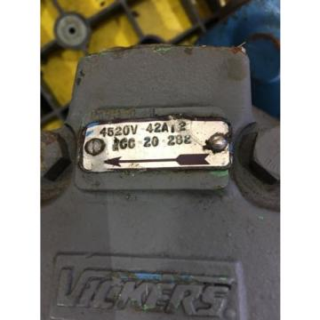 USED United States of America  GREAT CONDITION VICKERS HYDRAULIC PUMP 4520V 42A12 1CC-20-282, HP PT
