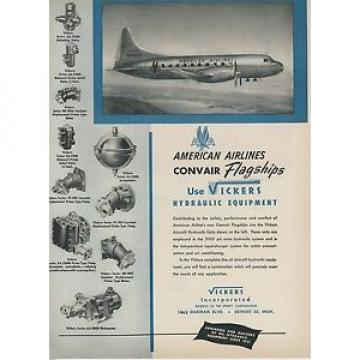 1948 Honduras  Vickers Hydraulic Equipment Ad American Airlines Convair Flagship Aircraft