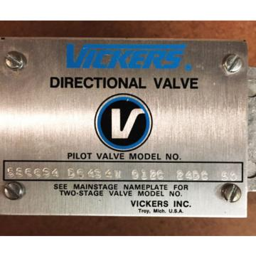 Vickers Solomon Is  Hydraulic Directional Valve 586694 DG 4S 4W 012C 24DC 50